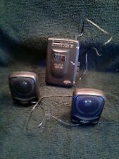 Vintage Cougar Am/Fm Radio Cassette Personal Player #Wm2Ss-N with mini speakers