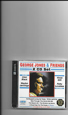 "GEORGE JONES, 2 CD SET ""GEORGE JONES & FRIENDS"" NEW SEALED"