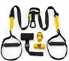 Home Gym Suspension Resistance Strength Training Straps Workout Trainer Bundle