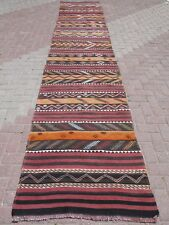 "Anatolian Turkish Antalya Kilim Runner 37,4""X187"" Area Rug Runner Carpet Wool"