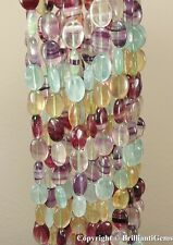 WE SELL QUALITY! FANTASTIC GRADE! 16mm NATURAL FLUORITE OVAL BEADS - 1 strand