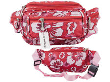 Ladies Polyester  Red Floral Bum/Waist Bag From Lorenz New  & Tagged