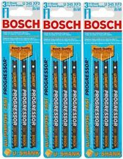 "Bosch U345 XF3 U-Shank Jig Saw Blades 3 Packs All Purpose Progressor 5"" Long"