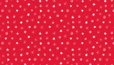 STARS /& SWIRLS on RED cotton fabric FQs,1//2 metre,Metre Price reduced 25/% off