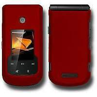 Rubberized Soft Protector Snap On Hard Shell Case Cover for Motorola Bali - Red