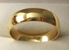 6 mm GENUINE 9K 9ct SOLID GOLD WEDDING BAND RING Size  N/7 to Z+2/14