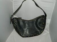 Vintage NINE WEST Black Leather Hobo Handbag Purse - Very Little Wear