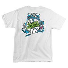 Santa Cruz Claus Grabke EXPLODING CLOCK Skateboard Shirt WHITE MEDIUM