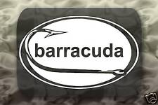 Barracuda Fish Sticker Hook Decal