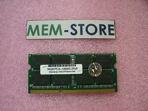 Single 16GB PC3-12800 DDR3L- 1600MHz SODIMM Memory THINKPAD YOGA 460 6TH GEN