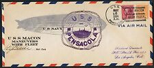 #638 ON USS PENSACOLA COVER MANEUVERS WITH U.S. FLEET MAY 6,1934 BT8926