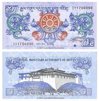 Bhutan 1 Ngultrum 2006  P-27a  Banknotes  UNC