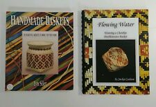 Basketry books lot of 5 - Twill, Pine Needle, Splint Woven, Cherokee & Handmade