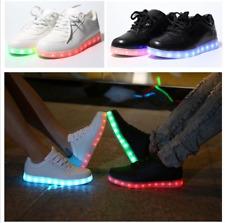 UNISEX USB LED LIGHTS LUMNIOUS SHOES FOR KIDS MEN WOMEN LACE UP CASUAL SNEAKER