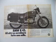 advertising Pubblicità 1981 MOTO BMW R45 R 45