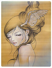 Audrey Kawasaki I'l Stay Here unframed book page Frame it any way you want!