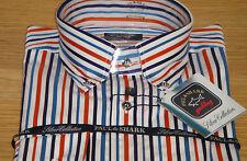 Camicie casual e maglie da uomo a manica lunga multicolore a righe