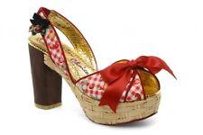 IRREGULAR CHOICE Fruit Basket Cherry Chunky Wedges HIGH HEELS Women Shoes Sz 9.5