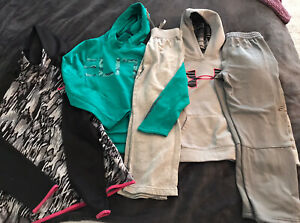 Lot (5) Youth Boys/girls Hoodie/Sweatpants - UA, Nike Elite M/L/ XL Great Shape