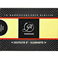 Gonzalez German Bb Clarinet Reeds Strength 3, Box of 10
