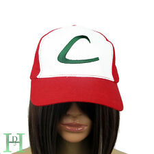 New Pokemon Ash Ketchum Red Hat Cap Trainer Cosplay Fancy Dress Costume UK Fast