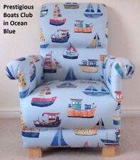 Prestigious Nautical Fabric Adult Chair Boats Armchair Ships Nursery Blue Yacht