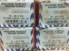 10-32 X 3/8 round head machine screw combo drive (400pcs) zinc