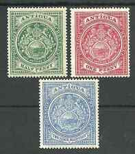 ANTIGUA SG41,42&45 THE 1908-17 HALFPENNY ,1d & 2.5d MOUNTED MINT C.£39
