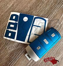 Blue Metallic Decal Sticker Wrap Overlay Key Fob VW Passat 3C B7 CC SMART