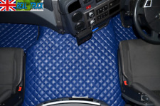 TRUCK ECO LEATHER FLOOR MATS SET  FIT RENAULT T RANGE WITH ENGINE HUMP- BLUE