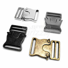 Metal side release buckles for 30 mm webbing press button A6Y