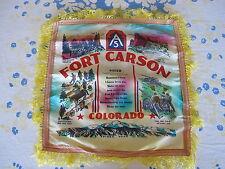 Fort Carson 5th Army Souvenir Pillow Case Scarf Sister Sweetheart Korean War Era