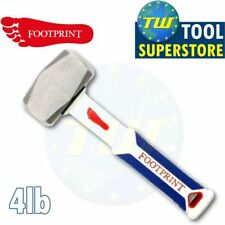 Footprint 4 LB (ca. 1.81 kg) Heavy Duty in acciaio temprato & Manico in Fibra di Vetro Club Lump Martello