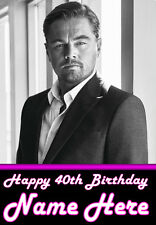 LEONARDO DICAPRIO A5 Personalised Birthday Card Any Name / Age - LOVELY! 3