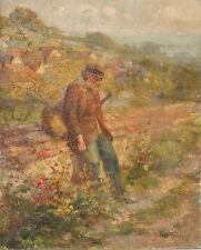 """ANDRE BOURNAC PEINTURE """"LASSITUDE"""" 1912"""