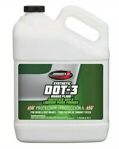 Johnsen's Premium DOT-3 Synthetic Automotive Brake Fluid 1-Gallon NEW Part# 2234
