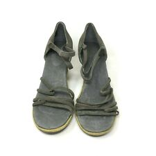TEVA Women's Wos Strappy Open Toe Wedge Heel Sandals Color Gray Size: 7 US