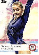 2012 TOPPS US OLYMPIC TEAM SHAWN JOHNSON GYMNASTICS CARD #1