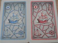 Swap Playing Cards Tall Sailing Ships Red & Blue by Dale - 2 Cards
