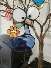 "Stained Glass ""silly bird"" sun catcher or ornament , 6 x 3 inch"