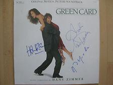 "Green Card ""Gerard Depardieu u.a."" Autogramme signed LP-Cover ""Soundtrack"" Vinyl"
