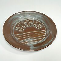 "New Susan Rodrigue Pottery Handmade 8"" Dish Tray Plate Signed with Artist's Card"