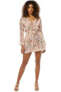 Zimmermann Bowie Frill Playsuit Size 14