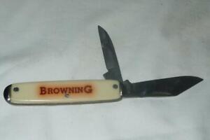 Vintage Browning 2 Blade knife USA