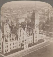 Canada in Stereo. Ottawa from Parliament Building over E. Wing & the Post Office