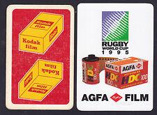 Kodak Film,Agfa Film Swap/Playing 2 Single playing Cards