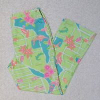 Lilly Pulitzer White Label, Girl's 14, Via Lilly Palm Beach Map Crop Capri Pants