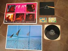 PINK FLOYD DARK SIDE OF THE MOON LP.UK 2ND A3,B3 PRESS/ POSTERS/ STICKERS tested
