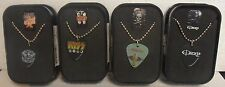 Wholesale Lot Of 12 Guitar Pick Necklace and Collector Box by Rock Express, New