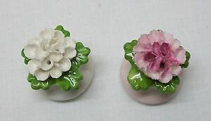 Pink and White Flowers Salt and Pepper Shakers Aynsley English Fine Bone China